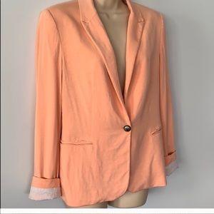Zara light coral sweater blazer